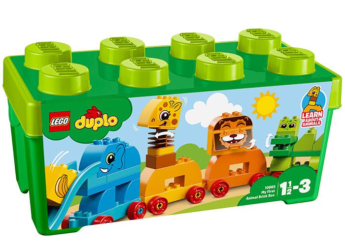 10863 LEGO® DUPLO® My First Prima mea cutie de caramizi cu animale 0
