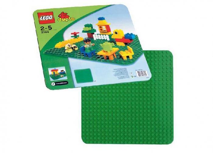 2304 LEGO® DUPLO® Placa mare, verde pentru constructii [1]