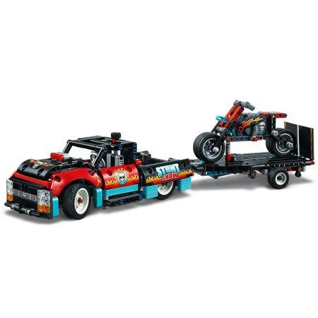 LEGO® Technic: Camion si motocicleta pentru cascadorii 42106 3