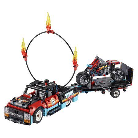 LEGO® Technic: Camion si motocicleta pentru cascadorii 42106 5