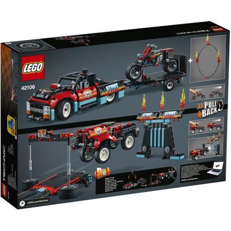 LEGO® Technic: Camion si motocicleta pentru cascadorii 42106 6