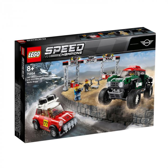75894 Speed Champions: 1967 Mini Cooper S Rally și automobil sport 2018 MINI John Cooper Works [0]