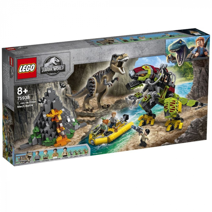 75938 LEGO® Jurassic World: Lupta T. rex contra Dino-Mech [0]