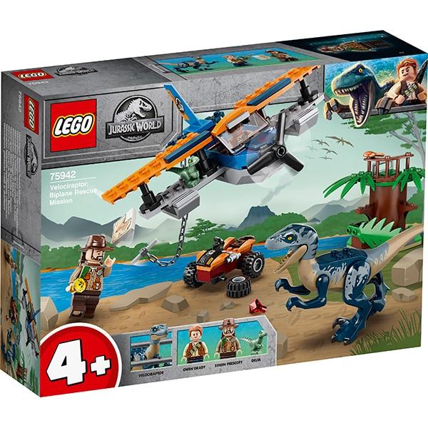 75942 LEGO® Jurassic World: Velociraptor: misiunea de salvare cu biplanul [0]