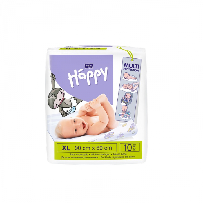 Aleze Igienice Copii, Happy 90x60 cm, 10 buc 0