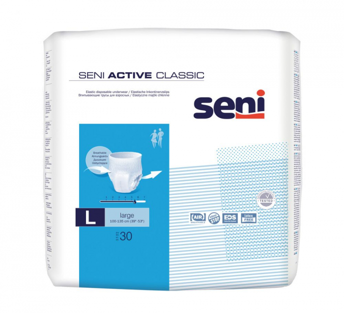 Chilot Absorbant Incontinenta Seni Active Classic Large 30 bucati 0