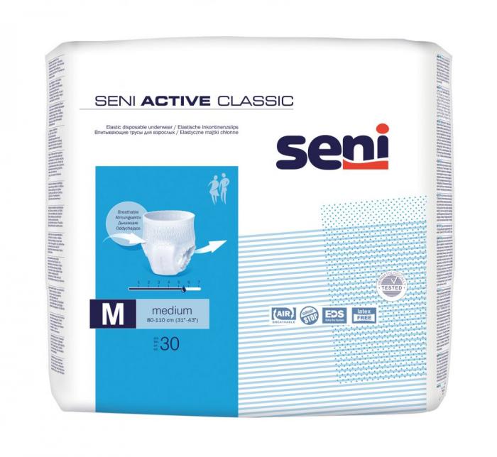 Chilot Absorbant Incontinenta Seni Active Classic Medium 30 bucati [0]