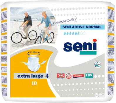 Chilot Absorbant Incontinenta Seni ACTIVE Normal Extra Large 10 bucati 0