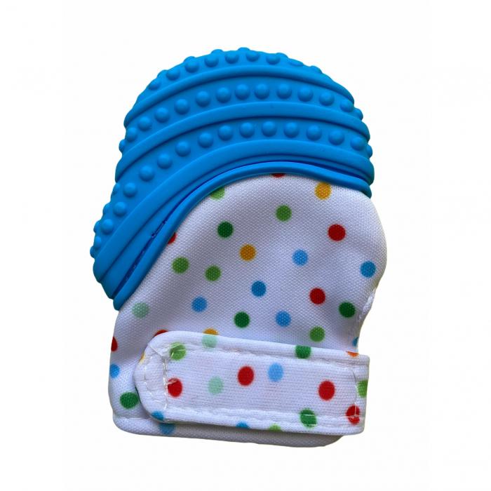 Coccorito Manusa de dentitie cu silicon - bleu [0]