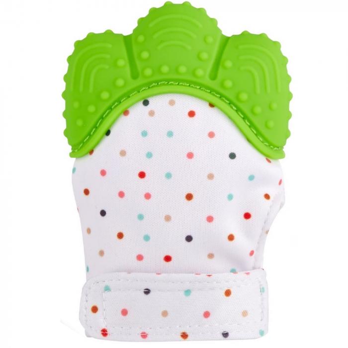 Coccorito Manusa de dentitie cu silicon - verde 0