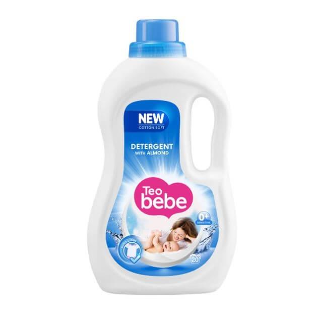 Detergent Rufe Teo Bebe Cotton Soft Almond lq Automat, 1.10 L 0