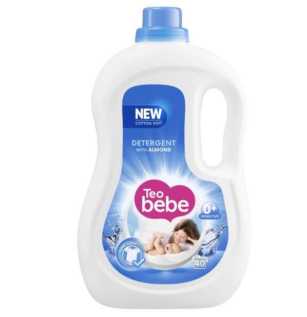 Detergent Rufe Teo Bebe Cotton Soft Almond lq Automat, 2.20 L                                     0