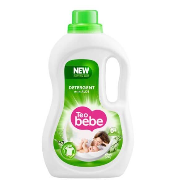 Detergent Rufe Teo Bebe Cotton Soft Aloe Vera lq Automat, 1.10 L [0]