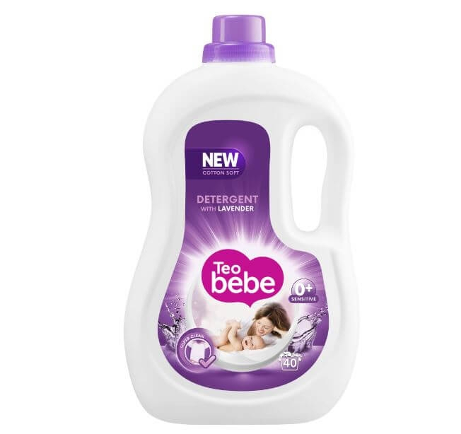Detergent Rufe Teo Bebe Cotton Soft Lavender lq Automat, 2.20 L 0
