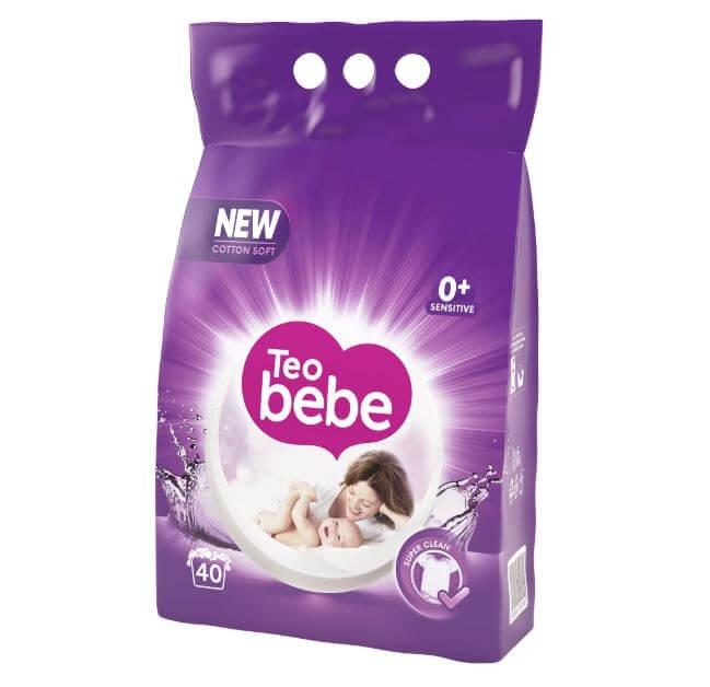 Detergent Rufe Teo Bebe Cotton Soft Purple Compact lavender, Automat, 3 Kg                             0