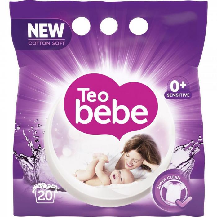 Detergent Rufe Teo Bebe Just Essentials Lavender Automat, 1.5 Kg 0