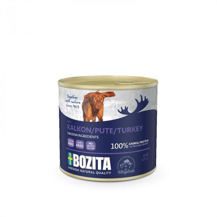 Hrana umeda pentru caini, Bozita®, cu curcan, 625 gr [0]