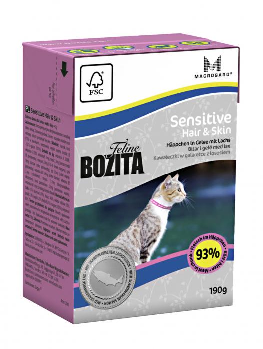 Hrana umeda pentru pisici Bozita®, Hair & Skin Sensitive, 190 gr [0]