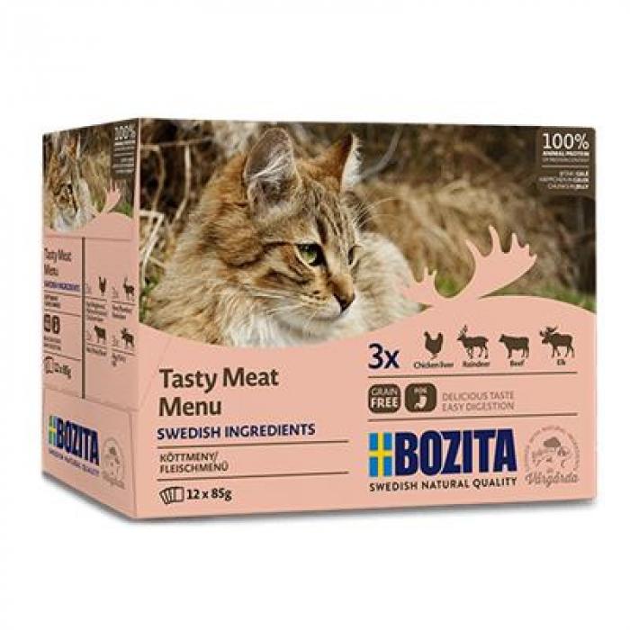 Hrana Umeda pentru pisici Bozita®, multi aroma, 12 x 85 gr [0]
