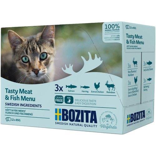 Hrana Umeda pentru pisici Bozita®, multi aroma, vita, pasare, somon, 12 x 85 gr [0]
