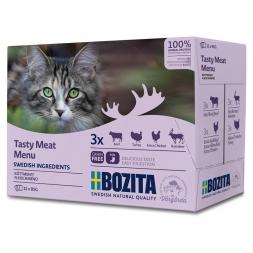 Hrana Umeda pentru pisici Bozita®, multi aroma, vita, pasare, vanat, 12 x 85 gr [0]