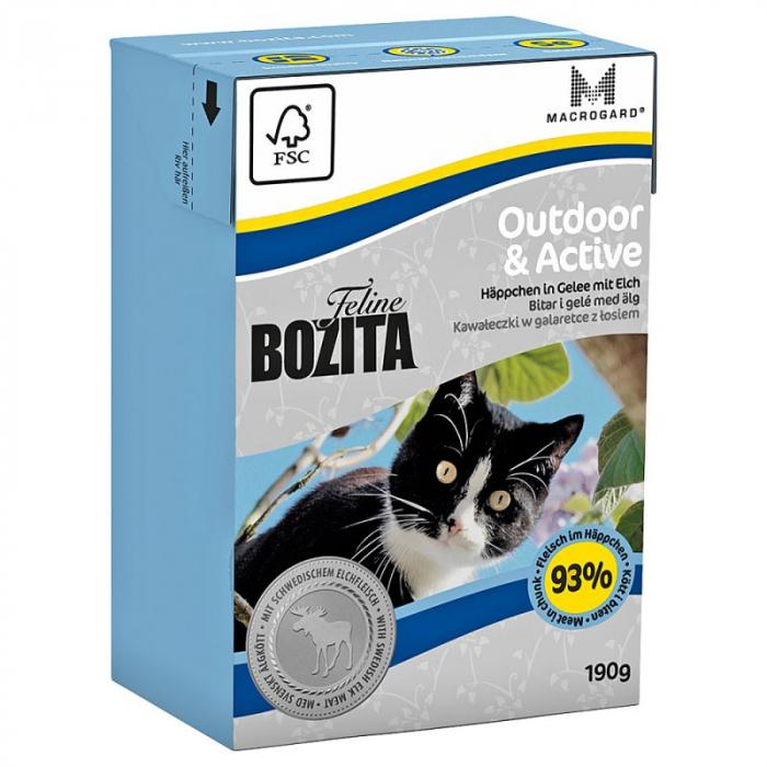 Hrana umeda pentru pisici Bozita®, Outdoor & Active, 190 gr [0]