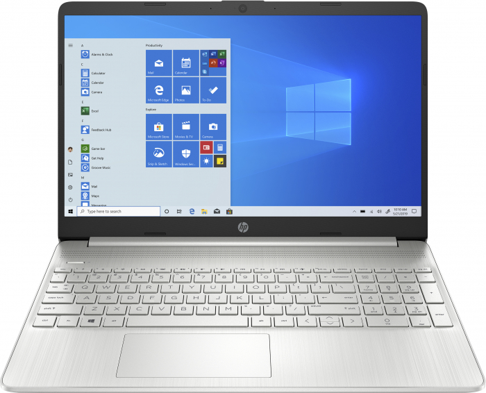 "Laptop HP, 15.6"", AMD Ryzen 3 5300U (pana la 3.8 GHz), 8 GB DDR4, 256 GB SSD, Windows 10 Home, Silver [0]"