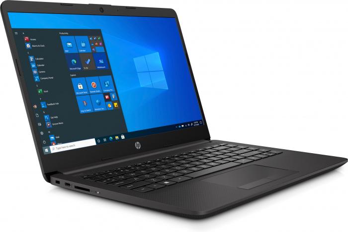 """Laptop HP 240 G8, 14"""", Intel® Celeron® N4020 (pana la 2.7 GHz), 4 GB DDR4, 256 GB SSD, Free DOS, Black [2]"""