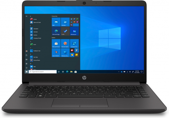 "Laptop HP 240 G8, 14"", Intel® Core™ i3 1005G1 (pana la 3.4 GHz), 4 GB DDR4, 512 GB SSD, Windows 10 Home, Dark Ash Silver [0]"