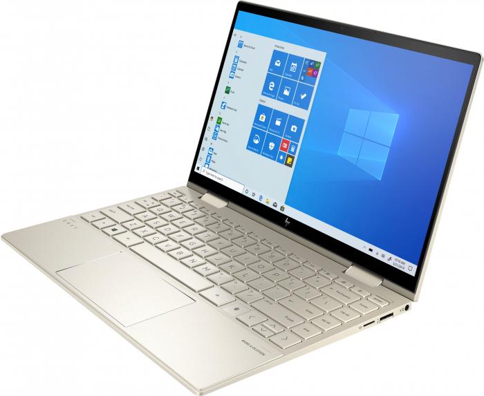 "Laptop HP Envy, 13"" Full HD Hybrid (2in1), i5 1135G7 (pana la 4.2 GHz), 8 GB RAM, 512 GB SSD, Touchscreen, Windows 10 Home, Gold [1]"