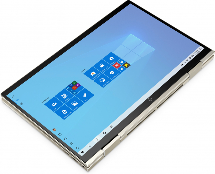"Laptop HP Envy, 13"" Full HD Hybrid (2in1), i5 1135G7 (pana la 4.2 GHz), 8 GB RAM, 512 GB SSD, Touchscreen, Windows 10 Home, Gold [6]"