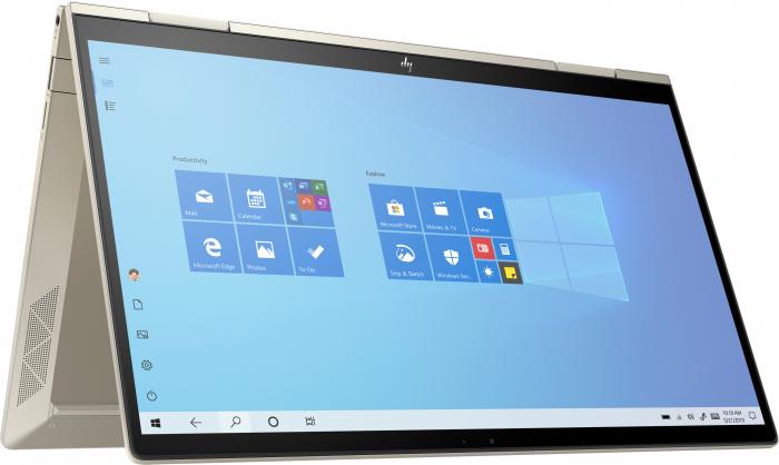 "Laptop HP Envy, 13"" Full HD Hybrid (2in1), i5 1135G7 (pana la 4.2 GHz), 8 GB RAM, 512 GB SSD, Touchscreen, Windows 10 Home, Gold [5]"
