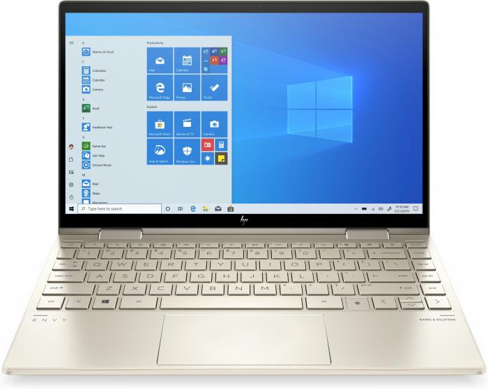 "Laptop HP Envy, 13"" Full HD Hybrid (2in1), i5 1135G7 (pana la 4.2 GHz), 8 GB RAM, 512 GB SSD, Touchscreen, Windows 10 Home, Gold [0]"