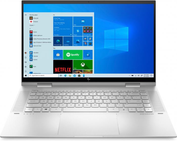 "Laptop HP Envy, 15.6"" Full HD, i7 1165G7 (pana la 4.7 GHz), 8 GB RAM, 512 GB SSD, Touchscreen, Windows 10 Home, Silver [0]"