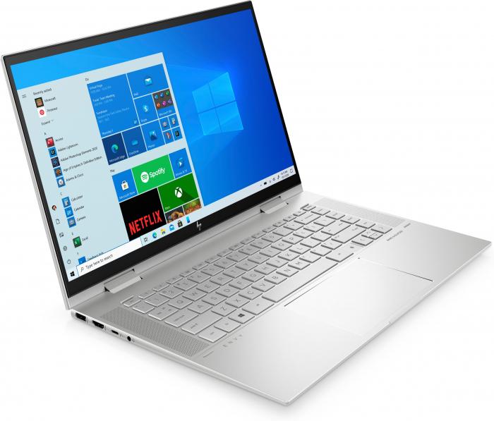 "Laptop HP Envy, 15.6"" Full HD, i7 1165G7 (pana la 4.7 GHz), 8 GB RAM, 512 GB SSD, Touchscreen, Windows 10 Home, Silver [2]"