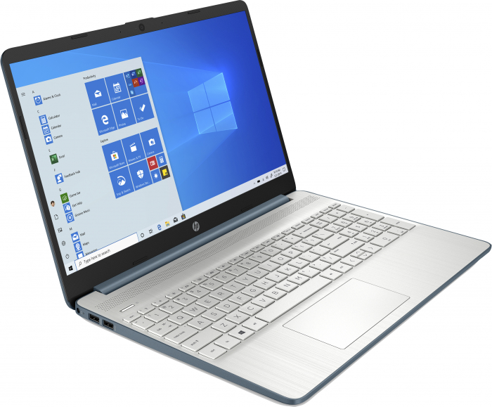 "Laptop HP HexaCore, 15.6"", AMD Ryzen 5 5500U (pana la 4 GHz), 8 GB DDR4, 512 GB SSD, Radeon RX Vega 7, Wndows 10 Home, Spruce Blue [2]"