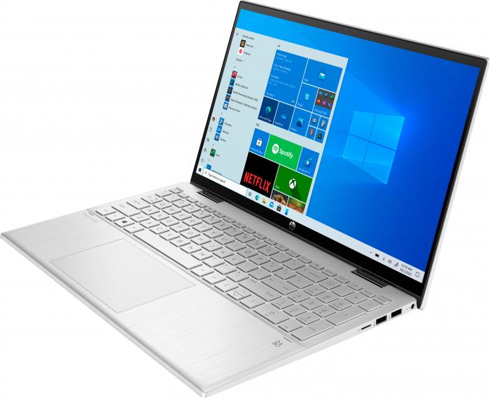 "Laptop HP Pavillion x360, 2in1,  15.6"", Intel® Pentium® Gold (pana la 3.5 GHz), 4 GB DDR4, 256 GB SSD, (2in1), Full HD, TouchScreen, Windows 10 Home, Silver [1]"