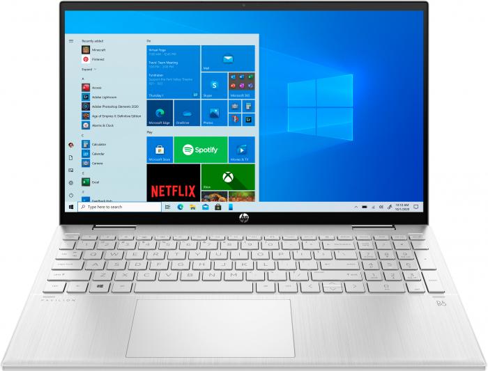"Laptop HP Pavillion x360, 2in1,  15.6"", Intel® Pentium® Gold (pana la 3.5 GHz), 4 GB DDR4, 256 GB SSD, (2in1), Full HD, TouchScreen, Windows 10 Home, Silver [0]"