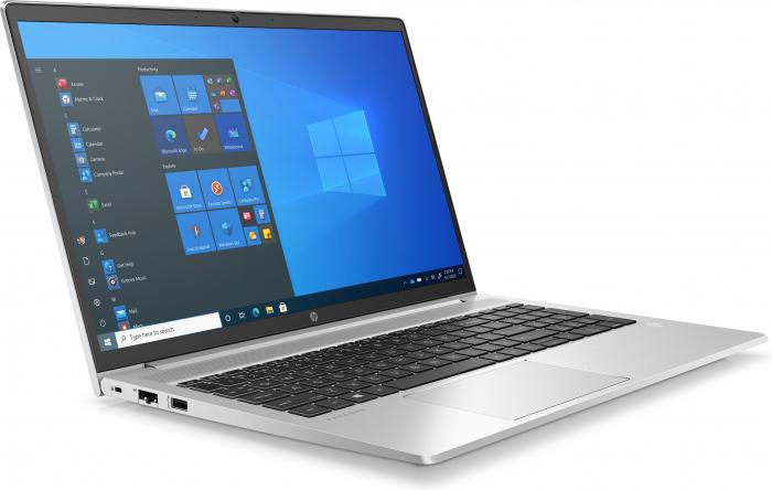"""Laptop HP ProBook 450 G8, 15.6"""" Full HD, i5 1135G7 (pana la 4.7 GHz), 8 GB RAM, 256 GB SSD, NVIDIA® GeForce MX450 2 GB ,Windows 10 Pro, Silver [2]"""