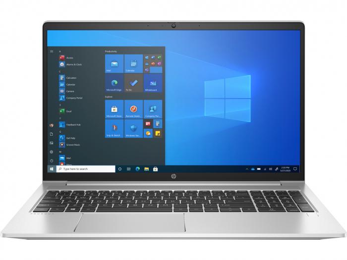 """Laptop HP ProBook 450 G8, 15.6"""" Full HD, i7 1165G7 (pana la 4.7 GHz), 8 GB RAM, 256 GB SSD, NVIDIA® GeForce MX450 2GB, Windows 10 Pro, Silver [0]"""