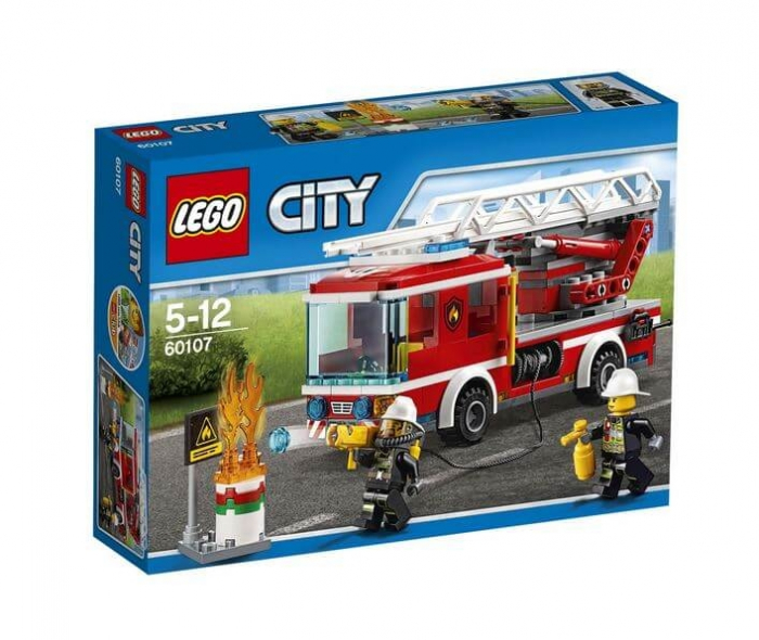 LEGO® City Camion de pompieri cu scara 60107 0