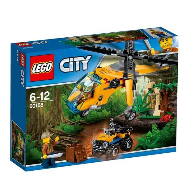 LEGO® City Great Vehicles Elicopter de marfa in jungla 60158 0