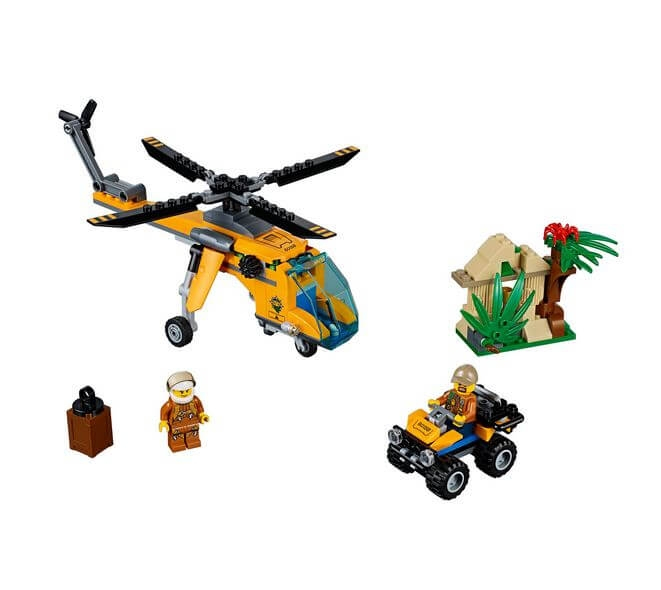 LEGO® City Great Vehicles Elicopter de marfa in jungla 60158 1