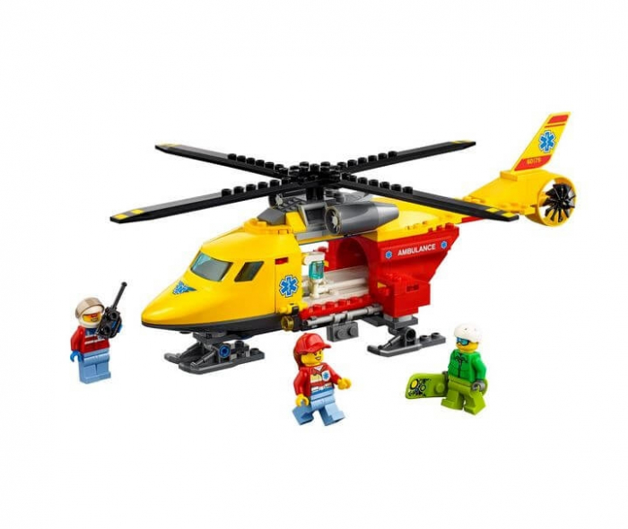 LEGO® City Great Vehicles Elicopterul ambulanta 60179 2
