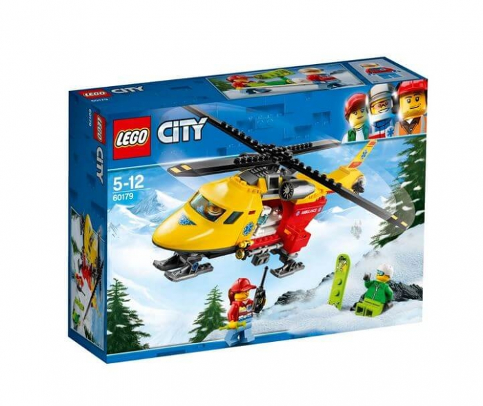 LEGO® City Great Vehicles Elicopterul ambulanta 60179 0