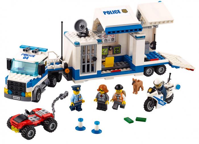 LEGO® City Police Centru de comanda mobil 60139 0