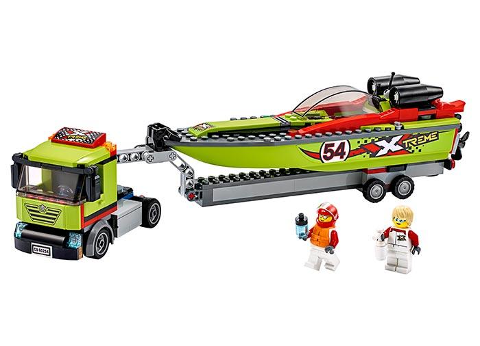 LEGO® City: Transportor de barca de curse 60254 0