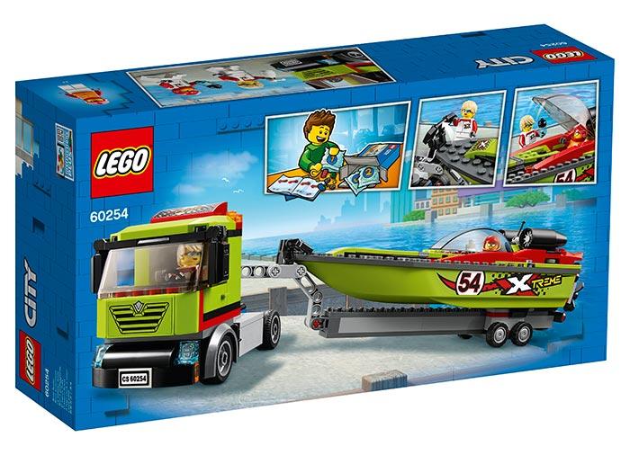LEGO® City: Transportor de barca de curse 60254 1