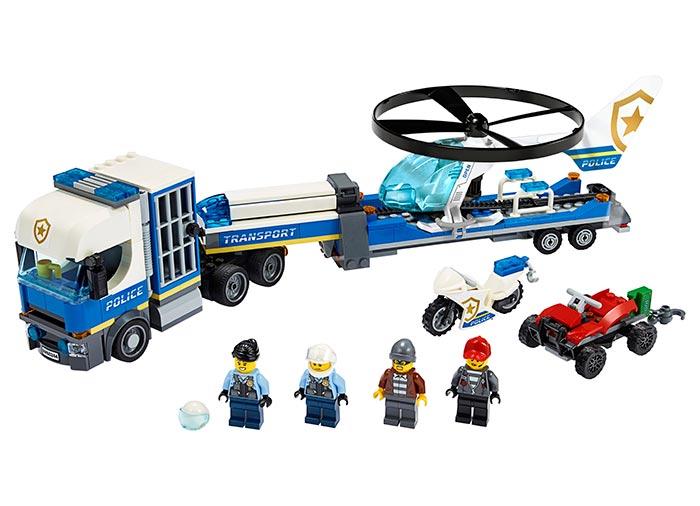 LEGO® City: Transportul elicopterului de politie 60244 0