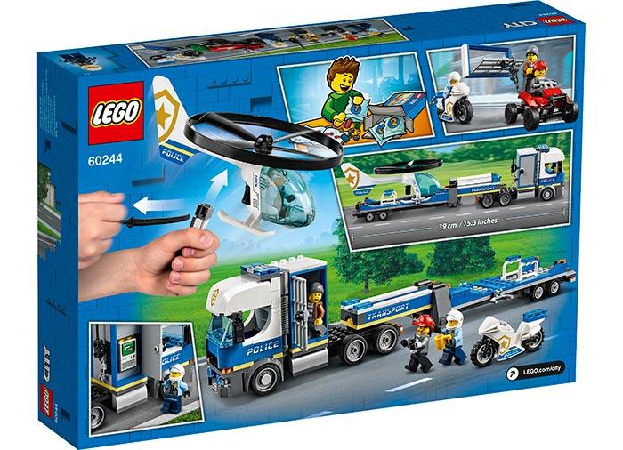 LEGO® City: Transportul elicopterului de politie 60244 1